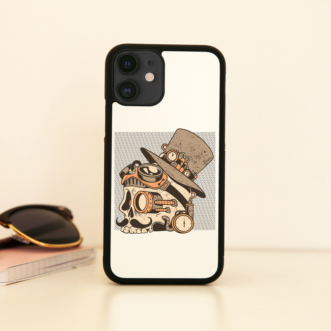 Skull steampunk iPhone case cover 11 11Pro Max XS XR X
