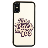 Back to 70's quote iPhone case cover 11 11Pro Max XS XR X - Graphic Gear
