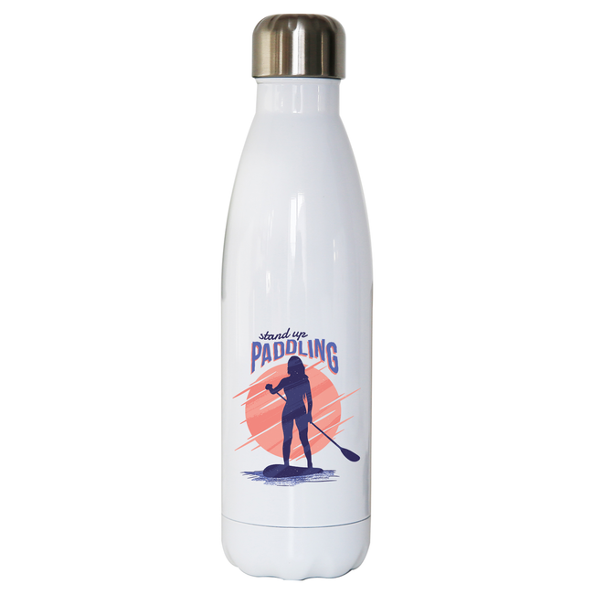 Stand up paddling water bottle stainless steel reusable - Graphic Gear