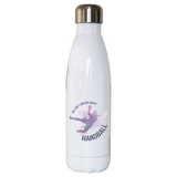 Handball quote playing water bottle stainless steel reusable - Graphic Gear