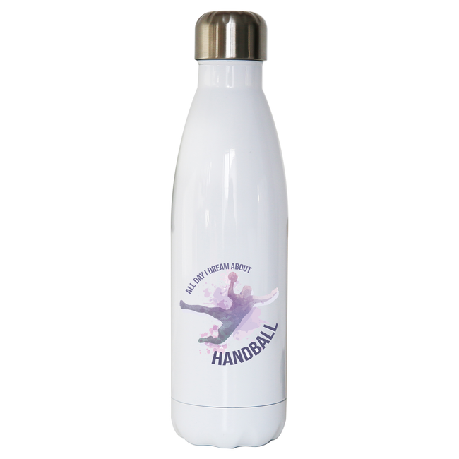 Handball quote playing water bottle stainless steel reusable