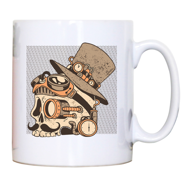 Skull steampunk mug coffee tea cup