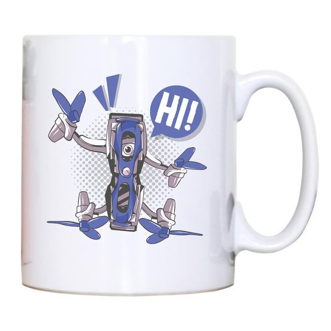 Quadcopter drone mug coffee tea cup - Graphic Gear