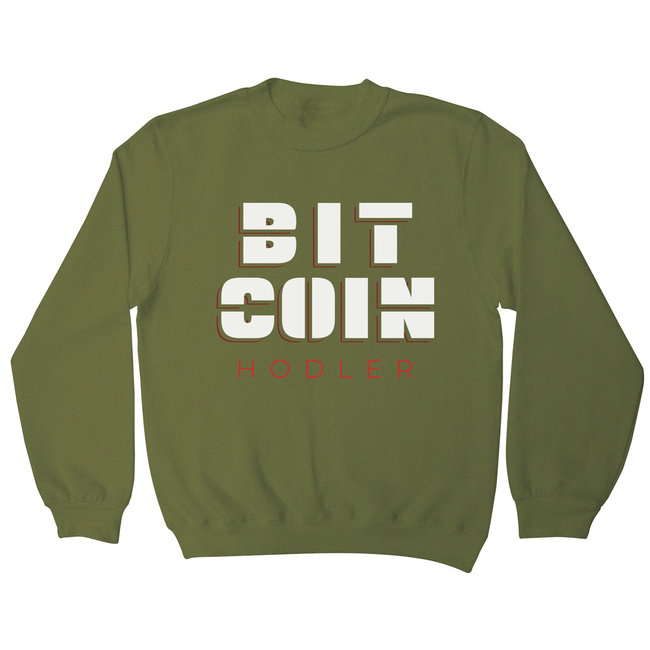 Bitcoin holder sweatshirt - Graphic Gear