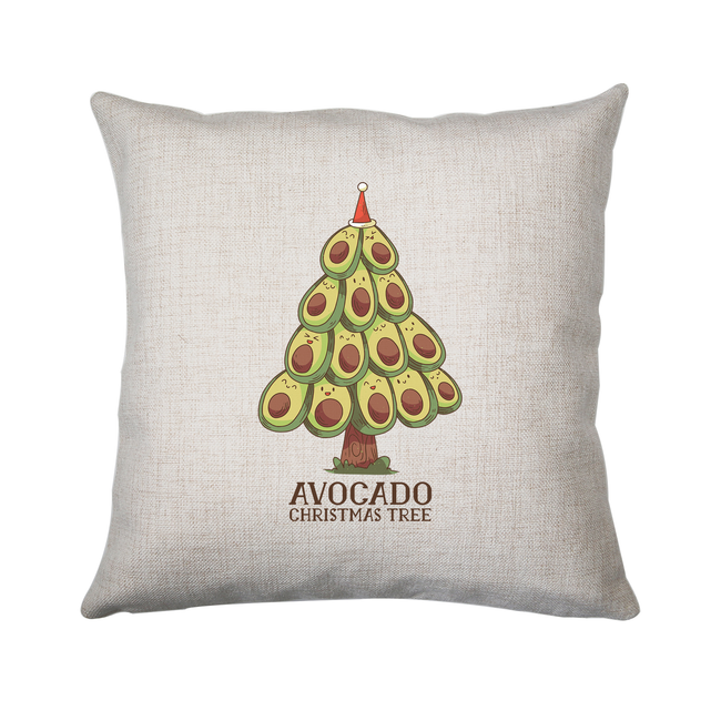 Avocado christmas tree cushion cover pillowcase linen home decor