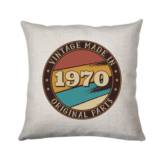 Vintage birthday editable quote cushion cover pillowcase linen home decor - Graphic Gear
