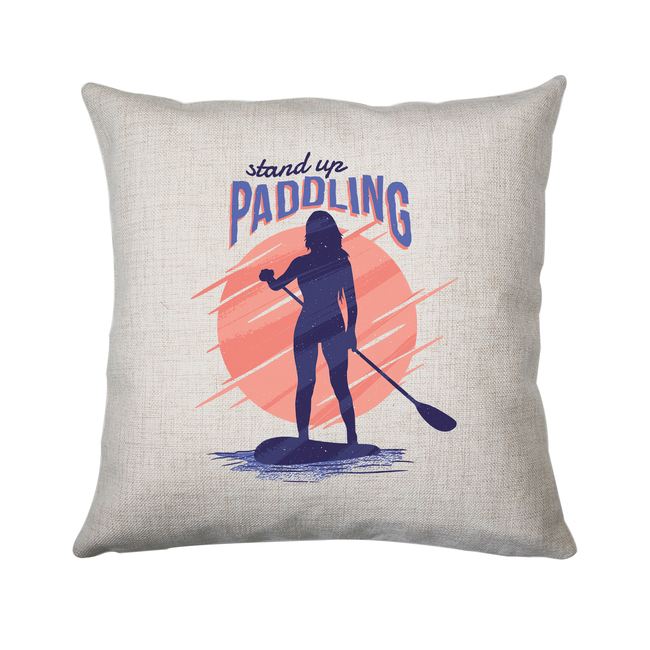 Stand up paddling cushion cover pillowcase linen home decor - Graphic Gear