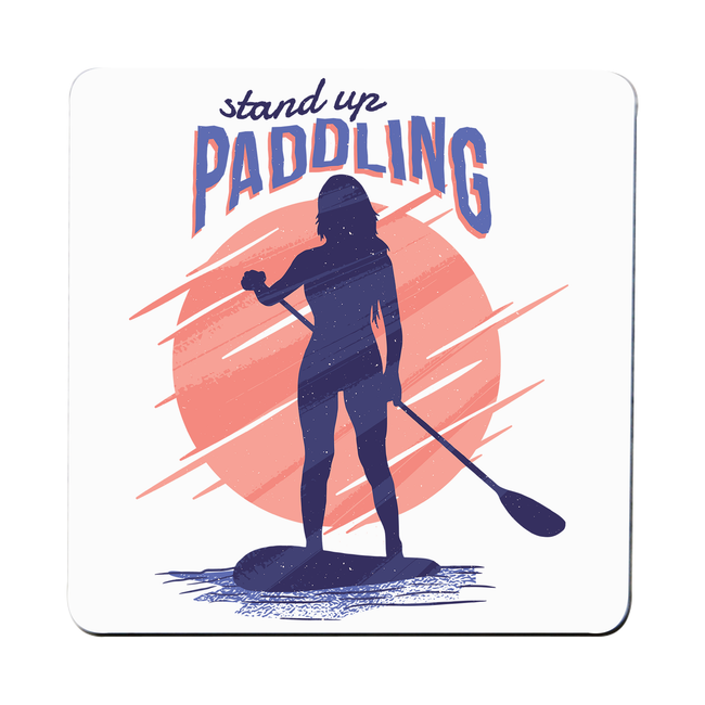 Stand up paddling coaster drink mat - Graphic Gear