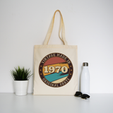 Vintage birthday editable quote tote bag canvas shopping - Graphic Gear