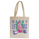 Merry liftmas tattoo tote bag canvas shopping - Graphic Gear
