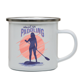 Stand up paddling enamel camping mug outdoor cup colors