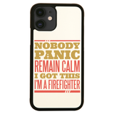 Firefighter panic quote iPhone case cover 11 11Pro Max XS XR X - Graphic Gear