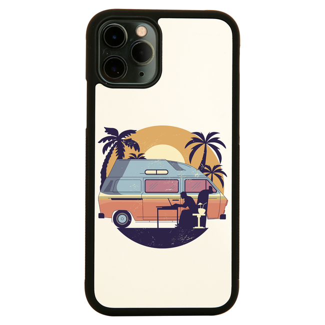 Camper van sunset iPhone case cover 11 11Pro Max XS XR X