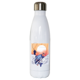 Fisherman illustration water bottle stainless steel reusable - Graphic Gear