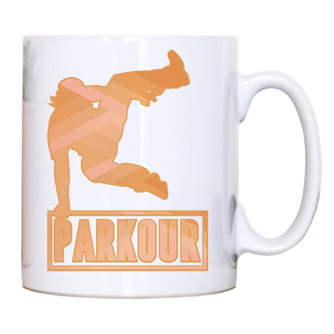 Parkour jump mug coffee tea cup