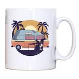 Camper van sunset mug coffee tea cup