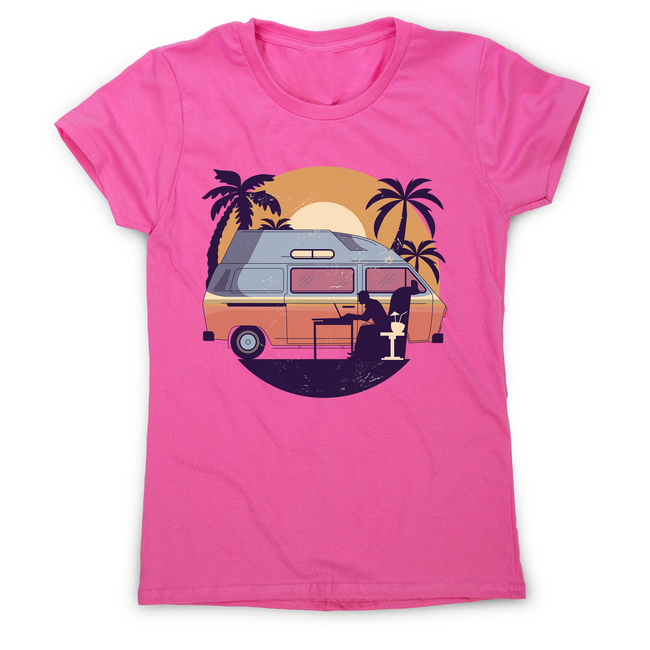 Camper van sunset women's t-shirt