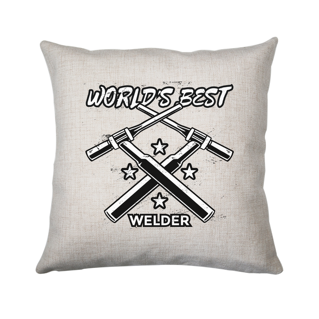 Welder quote cushion cover pillowcase linen home decor