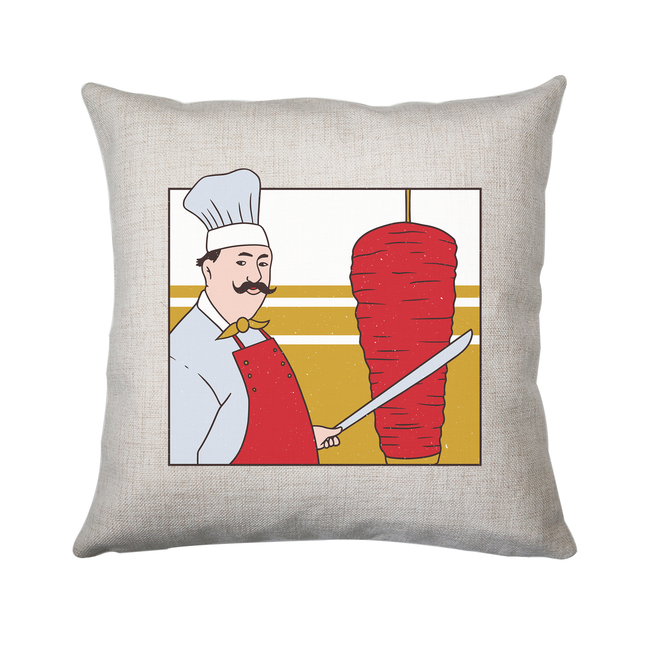 Kebab chef cushion cover pillowcase linen home decor