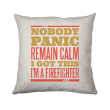 Firefighter panic quote cushion cover pillowcase linen home decor - Graphic Gear