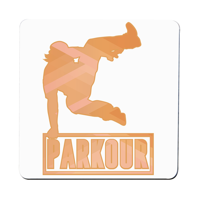 Parkour jump coaster drink mat