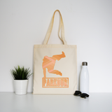 Parkour jump tote bag canvas shopping