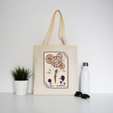Abstract girl tote bag canvas shopping