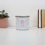 80's girl enamel camping mug outdoor cup colors