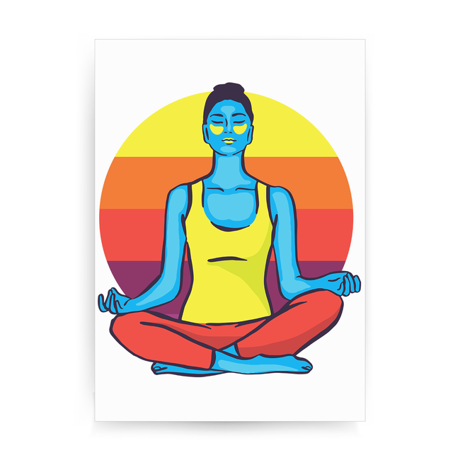 Colorful yoga woman print poster wall art decor - Graphic Gear