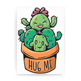 Cacti hug print poster wall art decor