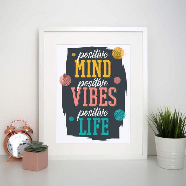 Positive quote print poster wall art decor