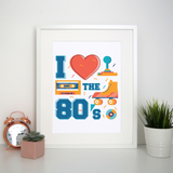 Love the 80's print poster wall art decor
