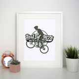 Mountain bike quote print poster wall art decor