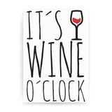 Wine o'clock print poster wall art decor