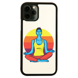 Colorful yoga woman iPhone case cover 11 11Pro Max XS XR X - Graphic Gear