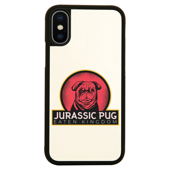 Jurassic pug iPhone case cover 11 11Pro Max XS XR X - Graphic Gear