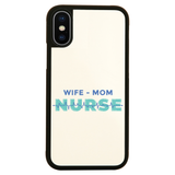 Wife mom nurse iPhone case cover 11 11Pro Max XS XR X - Graphic Gear