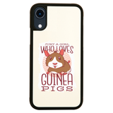 Girl love guinea pigs iPhone case cover 11 11Pro Max XS XR X