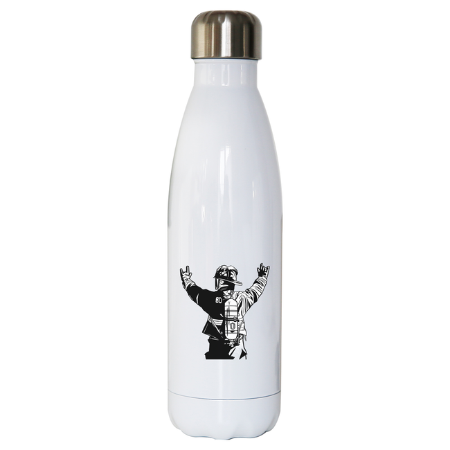 Firefighter rock hands water bottle stainless steel reusable