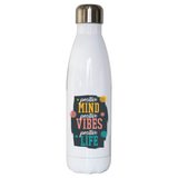 Positive quote water bottle stainless steel reusable - Graphic Gear