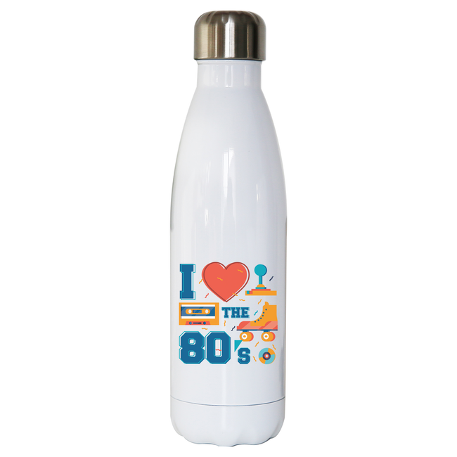 Love the 80's water bottle stainless steel reusable - Graphic Gear