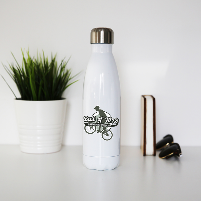 Mountain bike quote water bottle stainless steel reusable