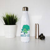 Broccolee funny water bottle stainless steel reusable - Graphic Gear