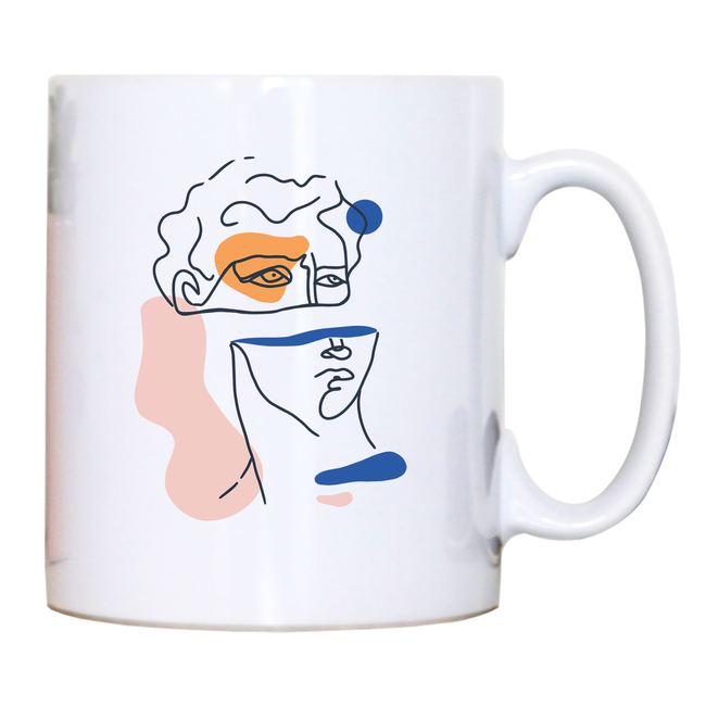 Abstract David head mug coffee tea cup