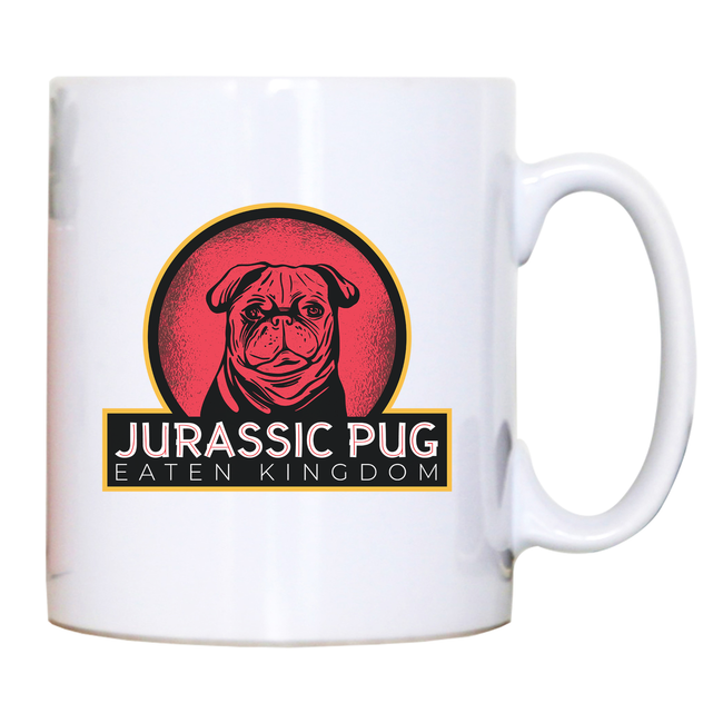 Jurassic pug mug coffee tea cup - Graphic Gear