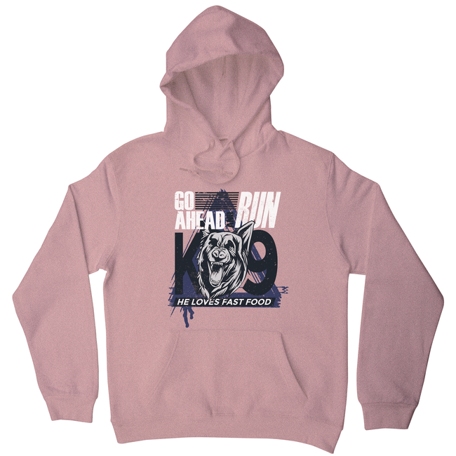 Police dog quote hoodie - Graphic Gear