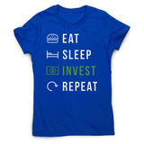 Eat sleep invest women's t-shirt