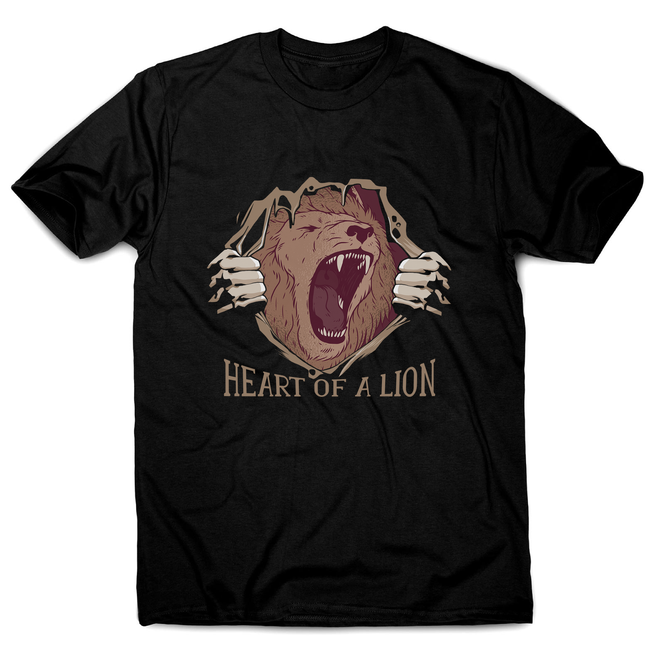 Heart of a lion men's t-shirt