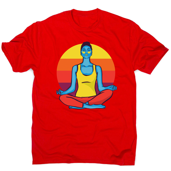 Colorful yoga woman men's t-shirt - Graphic Gear