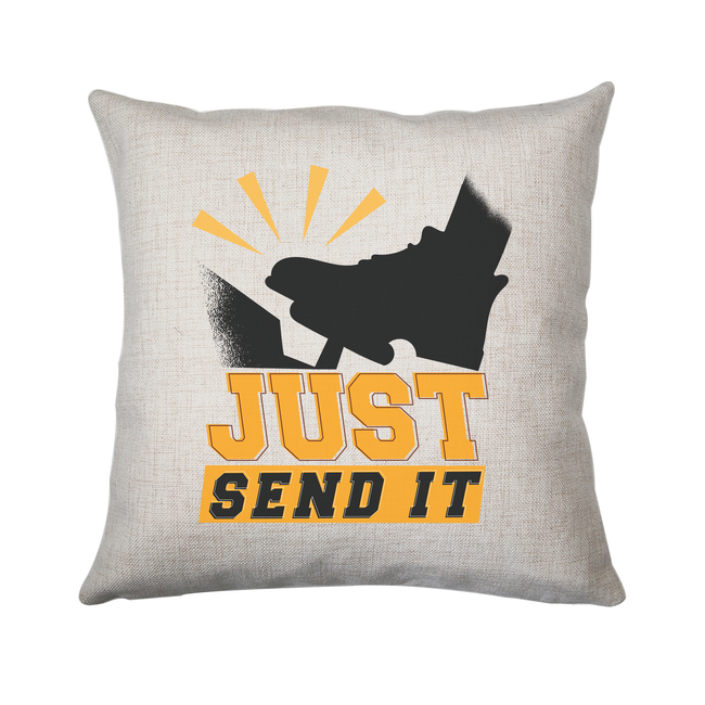 Gas pedal quote cushion cover pillowcase linen home decor
